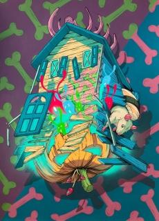 Dhani Barragan - Creepy House — Cortesía de Plastic Murs
