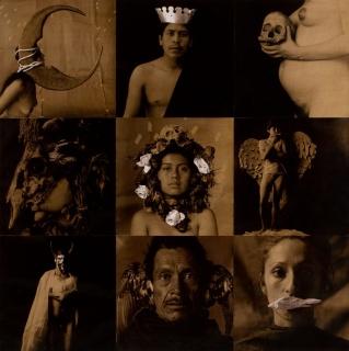 © Luis González Palma, La Lotería I (La luna, el rey, la muerte, la máscara, la rosa, la dama, el diablo, el pájaro, la sirena), 1988. Cortesía del artista & Bienal de Fotografía de Córdoba