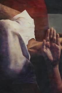Galeria Millan CONVITE  Bacante II, 2019, óleo sobre papel, 217 x 145 cm. [Foto: Julia Thompson]