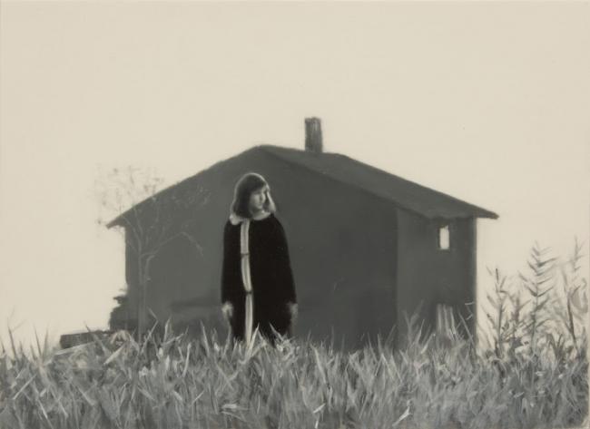 José Antonio Ochoa, The girl who lived on an island. Óleo sobre poliéster. 19 x 26 cm. 2019 — Cortesía de My Name's Lolita Art