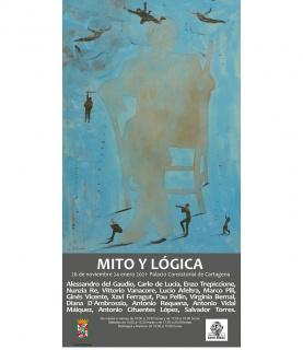 Cartel de la exposición Mito y Lógica