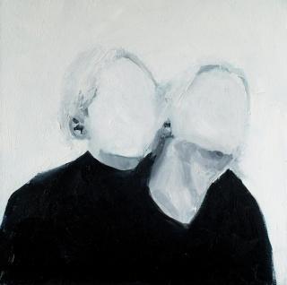 Wladymir Bernechea, Perlino, 2021, Óleo sobre tela, 40 x 40 cm