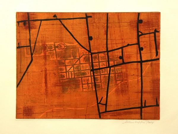 Selma Daffré, Ilustração 2. Cartografia,2014. Prova única I/VI,50X70cm