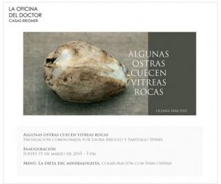 Liliana Sánchez, Algunas ostras cuecen vítreas rocas
