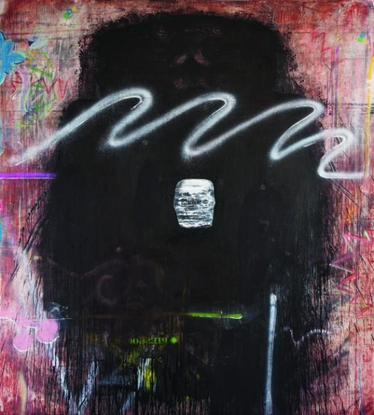 DEMIÁN FLORES, Coatlicue II. Óleo sobre lino 200 x 180 cm. 2013