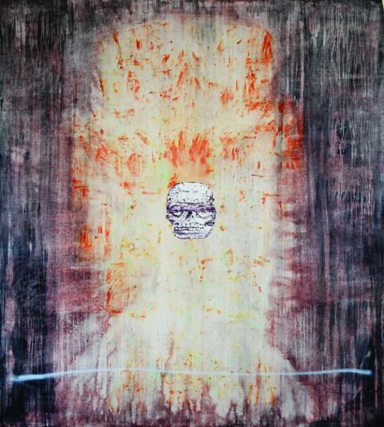 DEMIÁN FLORES, Coatlicue VI. Óleo sobre lino 200 x 180 cm. 2013