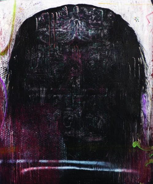 DEMIÁN FLORES, Coatlicue XIII. Óleo sobre lino, 120 x 100 cm., 2013