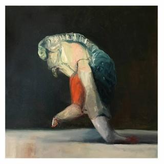 Joseba Eskubi. S.T., 2016, óleo/lienzo, 55x55 cm.