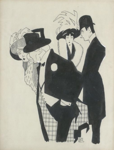 Juan Gris. Tinta y gouache sobre papel. 1907