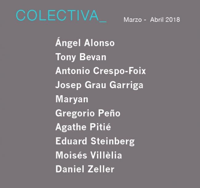COLECTIVA MARZO - ABRIL 2018. Imagen cortesía Michel Soskine Inc