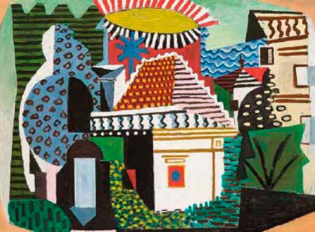 Pablo Picasso, Paysage de Juan-les-Pins (détail),1920, Paris, musée national Picasso - ParisPhoto © Rmn-Grand Palais (Musée national Picasso-Paris) / Mathieu Rabeau © Musée national Picasso - Paris
