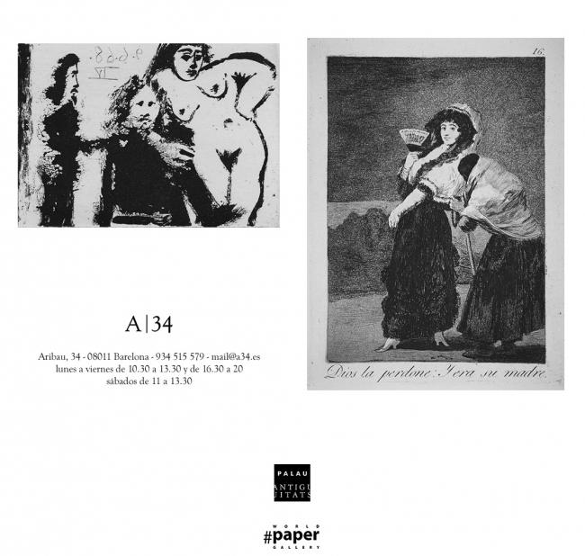 Goya y Picasso. Grabados