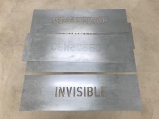 Ignasi Aballí, Palabras vacías, 2020 — Cortesía de la Galería Elba Benítez