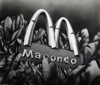 Gonzalo Fuenmayor, Macondo magno, 2020. Carboncillo sobre papel. 152.4 x 177.8 cm. — Cortesía de Galería El Museo