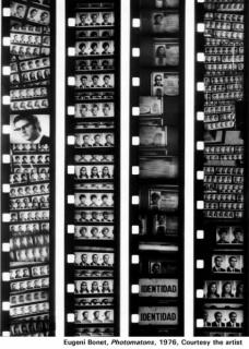 Eugeni Bonet, Photomatons, 1976. Cortesía del artista