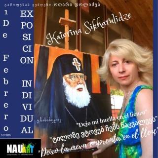 Katerina Sikharulidze. Dejo mi huella en el lienzo – Cortesía de Nauart