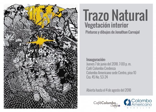 Trazo Natural. imagen cortesía Galería Colombo Americano de Medellín