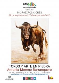 Toros y arte en piedra. Antonia Moreno Barranquero