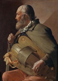 Georges de La Tour, Ciego tocando la zanfonía, 1620-1630. Colección del Museo Nacional del Prado. Foto © Museo Nacional del Prado — Cortesía del CAAM