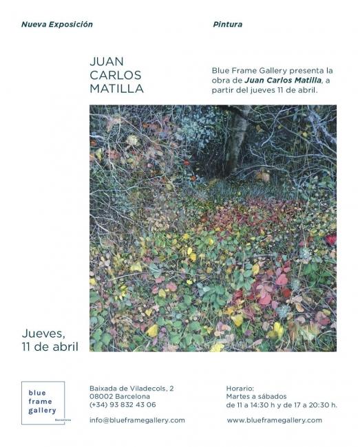 cartel exposición Matilla en  Blue frame Gallery