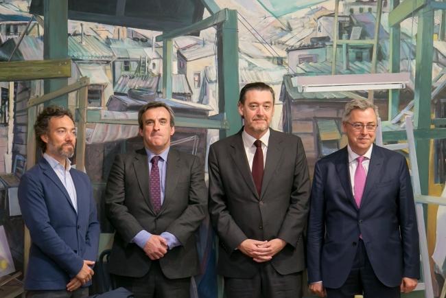 De izda. a dcha.: Fernando Bayón, Guillermo Barandiarán, Miguel Zugaza, y Víctor Urcelay — Cortesía del Museo de Bellas Artes de Bilbao