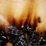 Marcos Tamargo. Fuego, 100 x 100 cm. mixta sobre tabla — Cortesía del artista
