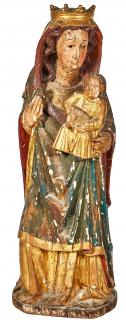 Escuela catalana, fles. del s.XV. Virgen con Niño.