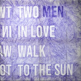 Alicia Framis. Two men in love walk to the sun