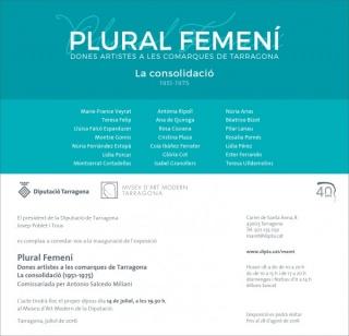 Plural femení. Dones artistes de les comarques de Tarragona. La consolidació (1951-1975)