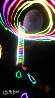 El artista Aguirre Schwarz (aka ZEVS) experimentando con VR en el CCA VR Lab.