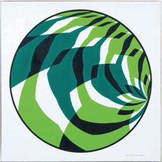 Hans Hinterreiter. SWF 53, 1973. Hans Hinterreiter Stiftung — Cortesía del Museo de Arte Abstracto Español