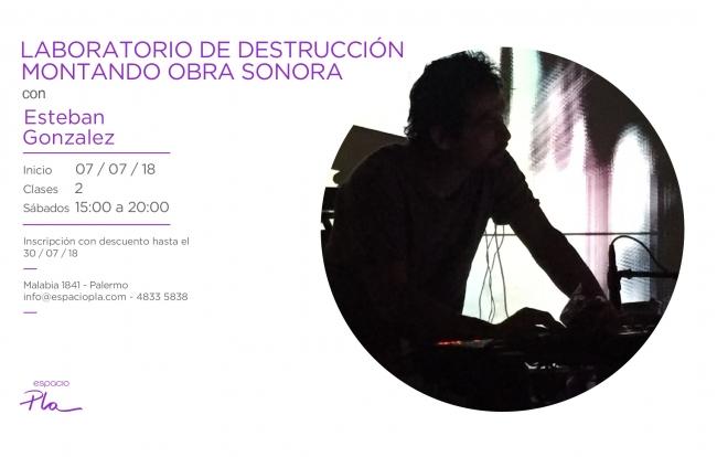 Laboratorio de destruccción montando una obra sonora