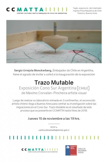 Trazo mutable. Cono Sur Argentina. Imagen cortesía CCMATTA de la Embajada de Chile