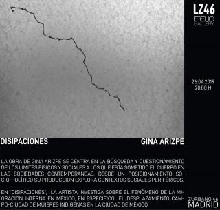 Gina Arizpe. Disipaciones