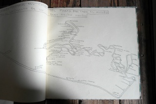 Andrés Fernández, Cuaderno verde. 2015. Rotulador — Cortesía de Ana Mas Projects