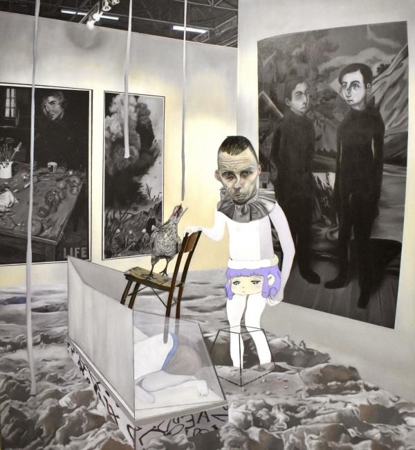 Carolina Muñoz. Desaparecer en el Espacio, 2019. Óleo sobre tela, 180 x 160 cm