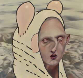 Carolina Muñoz. Tormenta I, 2019. Óleo sobre madera, 33 x 35 cm.