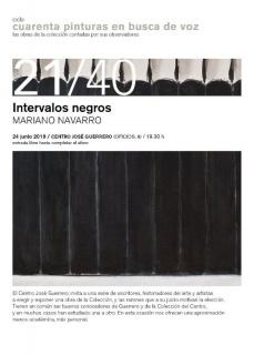 Mariano Navarro. Intervalos negros