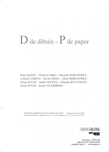 D de dibuix / P de paper