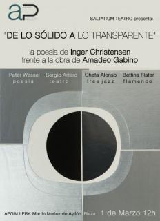 La poesía de Inger Christensen frente a la obra de Amadeo Gabino.