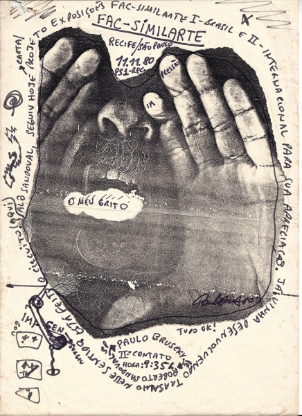 Paulo Bruscky, Facsimil-arte, 1980, photocopy and fax, Courtesy of the artist