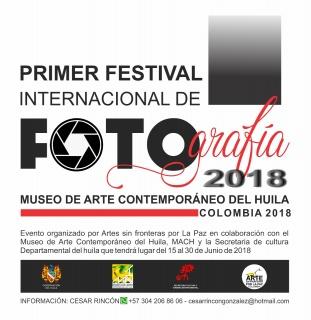 FLAYER PROMOCIONAL FESTIVAL INTERNACIONAL DE FOTOGRAFIA MACH COLOMBIA 2018