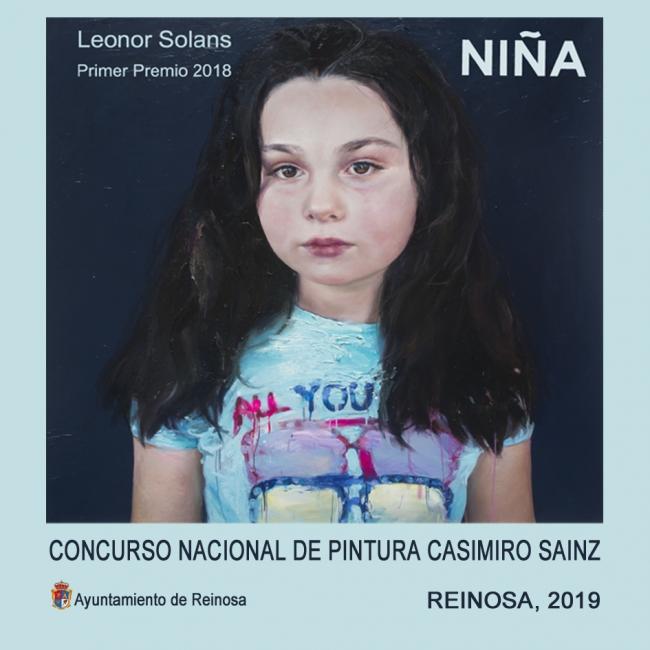 XLII Concurso Nacional de Pintura Casimiro Sain (cartel) — Obra de Leonor Solans, ganadora de la edición de 2018