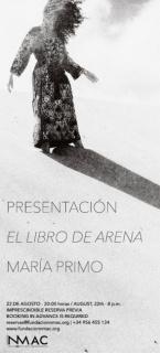 """PRESENTACIÓN FOTO LIBRO """"EL LIBRO DE ARENA"""" - MARÍA PRIMO"""