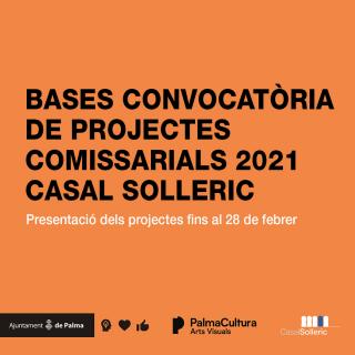 Convocatoria de proyectos comisariales 2021 Espai Dipòsit y Planta Baixa del Casal Solleric