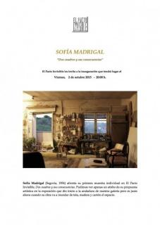 Sofía Madrigal. Dos cuadros y sus consecuencias. Cortesía El Pacto Invisible