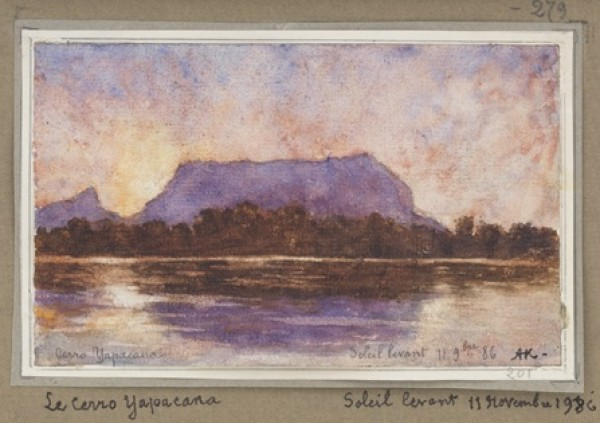 Auguste Morrisot (1857-1951), France, Yapacana Mountain (Rising Sun), 1886, Watercolor on paper. Photographer: Mark Morosse