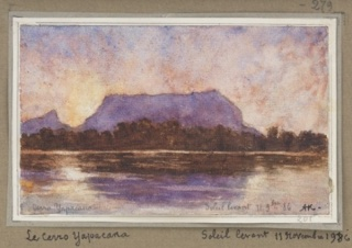 Auguste Morrisot (1857-1951), France, Yapacana Mountain (Rising Sun), 1886, Watercolor on paper. Photographer: Mark Morosse