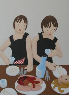 ''El banquete hambriento'' de Rosalía Banet. Cortesía de TWIN Gallery