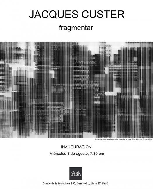 Jacques Custer. Fragmentar